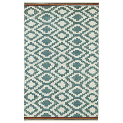 Marble Falls Geometric Turquoise Area Rug Rug Size: Rectangle 36 x 56