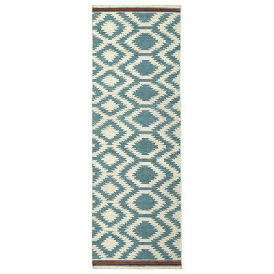 Marble Falls Geometric Turquoise Area Rug Rug Size: Runner 26 x 8