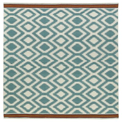Marble Falls Geometric Turquoise Area Rug Rug Size: Square 8