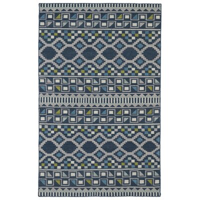 Marble Falls Blue Geometric Area Rug Rug Size: Rectangle 36 x 56