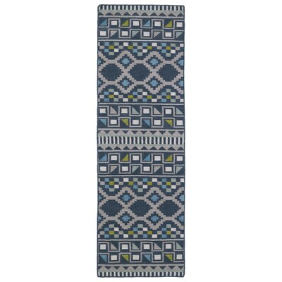Marble Falls Blue Geometric Area Rug Rug Size: Runner 26 x 8