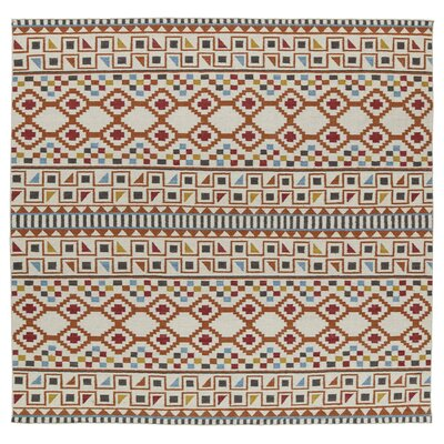 Marble Falls Flat-Woven Paprika Area Rug Rug Size: Square 8