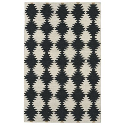 Marble Falls Black & Cream Geometric Area Rug Rug Size: Rectangle 5 x 8