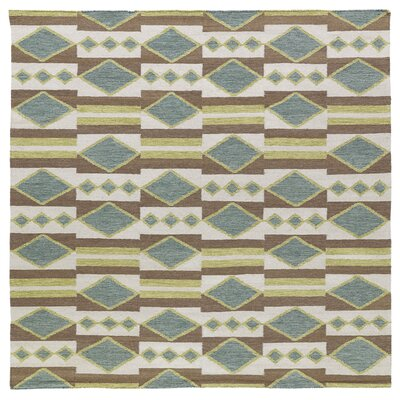 Marble Falls Turquoise Geometric Area Rug Rug Size: Square 8