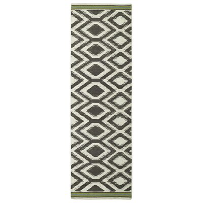 Marble Falls Grey Geometric Area Rug Rug Size: Runner 26 x 8