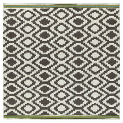 Marble Falls Grey Geometric Area Rug Rug Size: Square 8