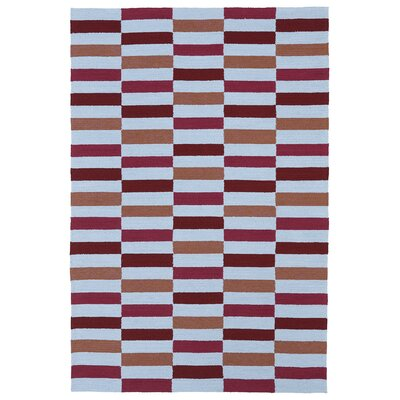 Staple Hill Cranberry Indoor/Outdoor Rug Rug Size: Rectangle 76 x 9