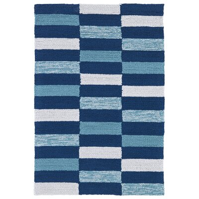 Staple Hill Blue Indoor/Outdoor Area Rug Rug Size: 2 x 3