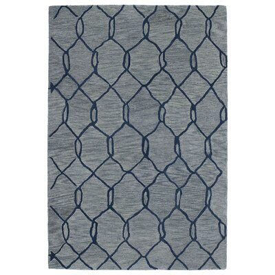 Zack Light Blue Geometric Rug Rug Size: Rectangle 5 x 8
