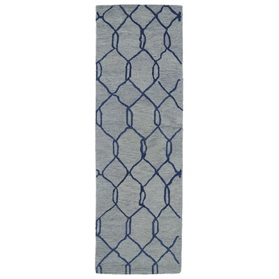 Zack Light Blue Geometric Rug Rug Size: Runner 3 x 10