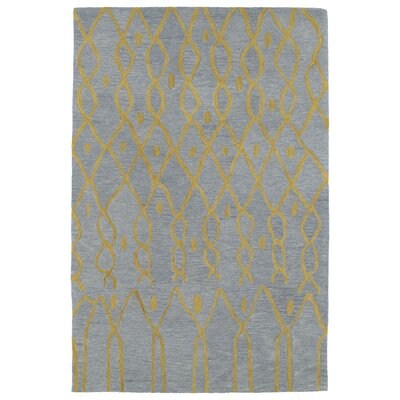 Zack Geometric Gray & Yellow Rug Rug Size: Rectangle 4 x 6