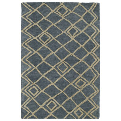 Zack Blue Geometric Rug Rug Size: Rectangle 96 x 136