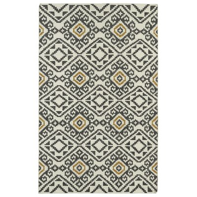 Marble Falls Charcoal Geometric Area Rug Rug Size: Rectangle 2 x 3