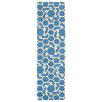 Fairlee Blue/White Area Rug Rug Size: Runner 2'3