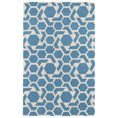 Fairlee Blue/White Area Rug Rug Size: Rectangle 96 x 13
