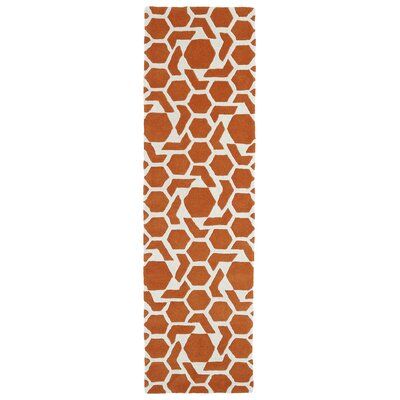 Fairlee Orange/White Area Rug Rug Size: Runner 23 x 8