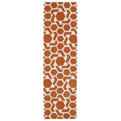 Fairlee Orange/White Area Rug Rug Size: Runner 23 x 8