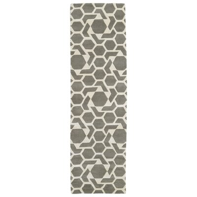 Fairlee Grey/White Area Rug Rug Size: Runner 23 x 8