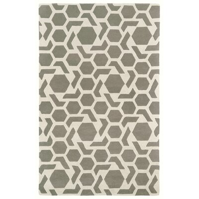 Fairlee Grey/White Area Rug Rug Size: Rectangle 2 x 3