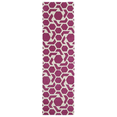 Fairlee Pink Area Rug Rug Size: Runner 23 x 8