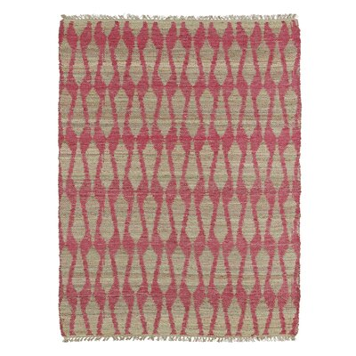 Millbourne Ivory & Pink Area Rug Rug Size: Rectangle 76 x 9