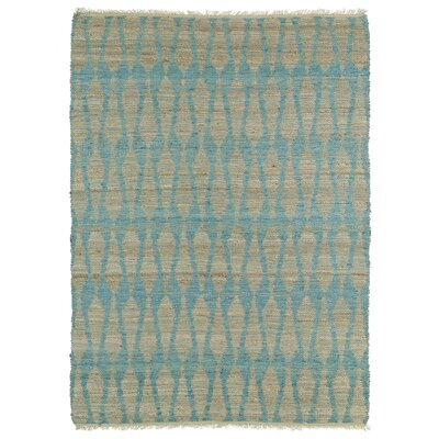 Millbourne Light Beige & Teal Area Rug Rug Size: Rectangle 8 x 11