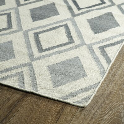 Hartranft Gray Geometric Area Rug Rug Size: Rectangle 3'6