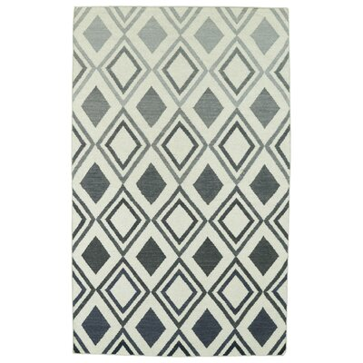 Hartranft Gray Geometric Area Rug Rug Size: 9 x 12