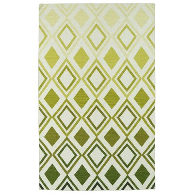 Hartranft Green Geometric Area Rug Rug Size: 5 x 8