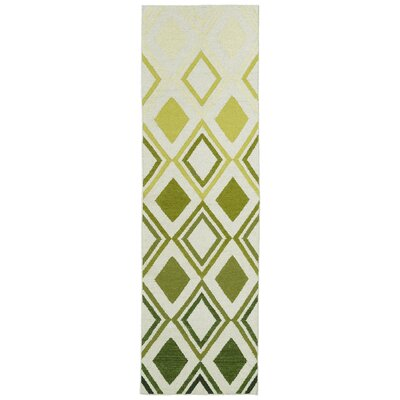 Hartranft Green Geometric Area Rug Rug Size: Runner 26 x 8