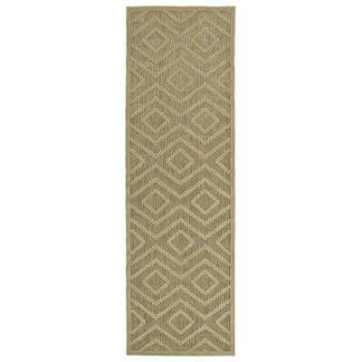 Shirehampton Hand-Woven Khaki Indoor/Outdoor Area Rug Rug Size: Runner 26 x 710