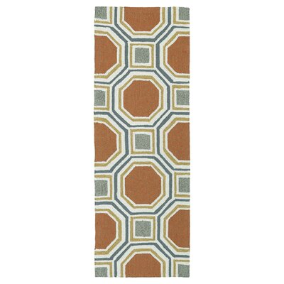 Doylestown Pumpkin Indoor/Outdoor Area Rug Rug Size: Runner 2' x 6'