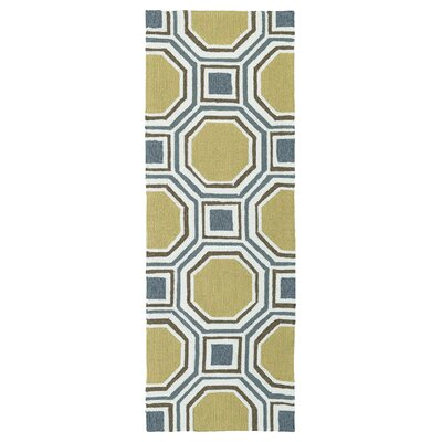 Doylestown Hand-Tufted Gold Indoor/Outdoor Area Rug Rug Size: 9 x 12