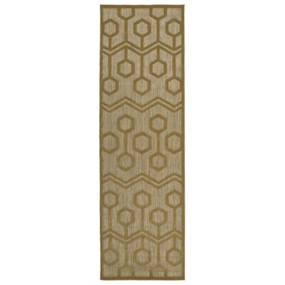 Shirehampton Light Brown Indoor/Outdoor Area Rug Rug Size: Runner 26 x 710