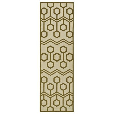 Shirehampton Olive Indoor/Outdoor Area Rug Rug Size: Runner 26 x 710