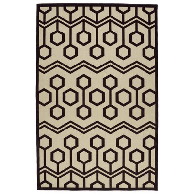 Shirehampton Brown/Cream Indoor/Outdoor Area Rug Rug Size: Rectangle 5 x 76
