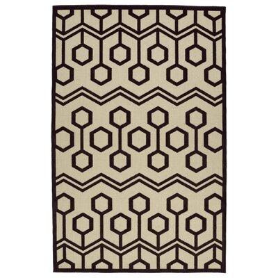 Shirehampton Brown/Cream Indoor/Outdoor Area Rug Rug Size: Rectangle 310 x 58