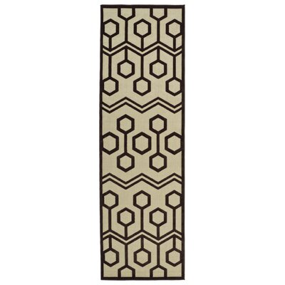 Shirehampton Brown/Cream Indoor/Outdoor Area Rug Rug Size: Runner 26 x 710