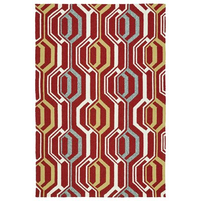 Doylestown Red Indoor/Outdoor Area Rug Rug Size: Rectangle 5 x 76