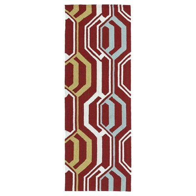 Doylestown Red Indoor/Outdoor Area Rug Rug Size: Runner 2 x 6