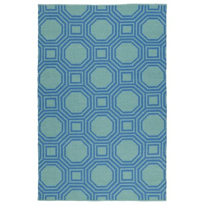 Littleton Blue/Green Indoor/Outdoor Area Rug Rug Size: 5 x 76