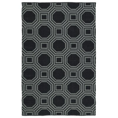 Littleton Black/Gray Indoor/Outdoor Area Rug Rug Size: Rectangle 5' x 7'6