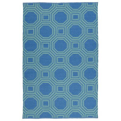 Littleton Green/Blue Indoor/Outdoor Area Rug Rug Size: 5 x 76
