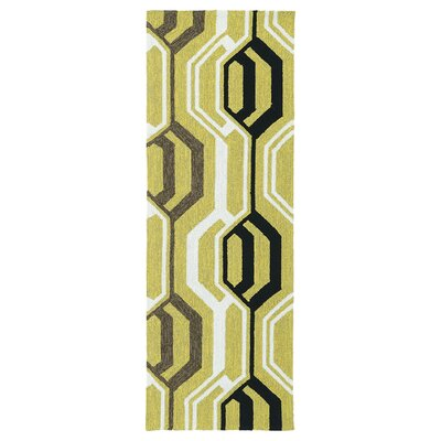 Doylestown Gold Indoor/Outdoor Area Rug Rug Size: Runner 2 x 6