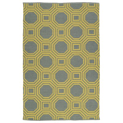 Littleton Yellow/Gray Indoor/Outdoor Area Rug Rug Size: Rectangle 3 x 5