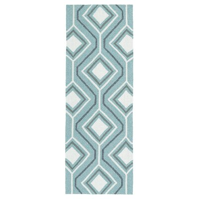 Doylestown Hand-Tufted Blue Indoor/Outdoor Area Rug Rug Size: Rectangle 5 x 76