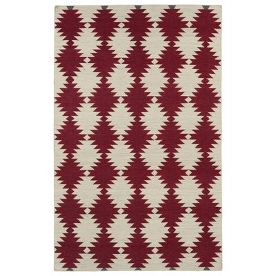 Marble Falls Red Geometric Area Rug Rug Size: Rectangle 9 x 12