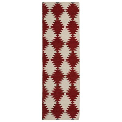 Marble Falls Red Geometric Area Rug Rug Size: Runner 26 x 8