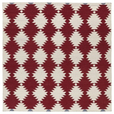Marble Falls Red Geometric Area Rug Rug Size: Square 8