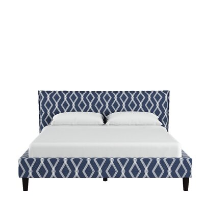 Edford Seamed Crossweave Upholstered Platform Bed Size: King